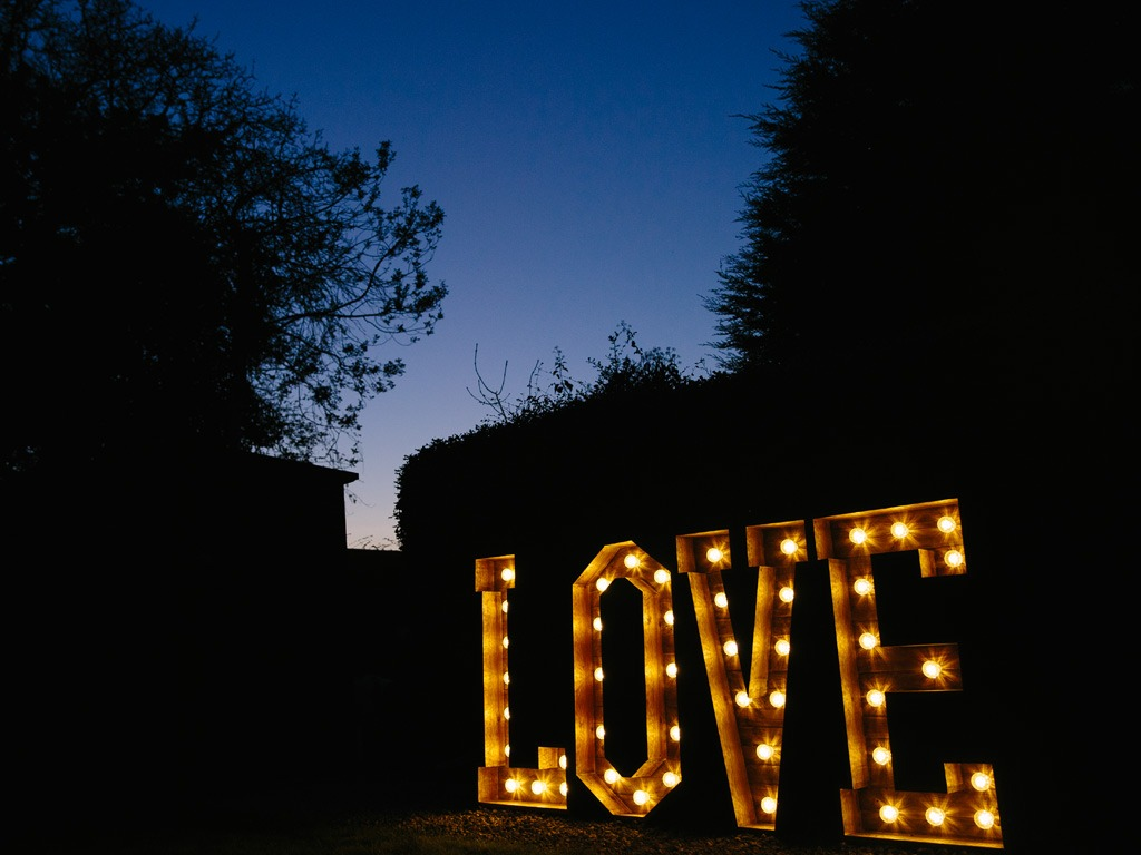 4ft LOVE Wooden Rustic Letters